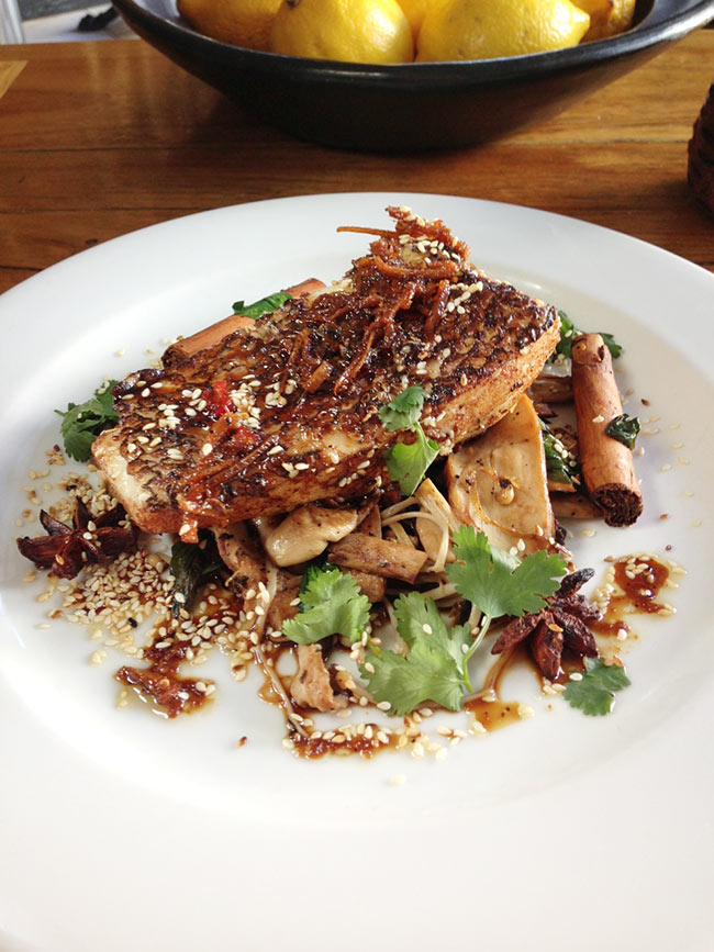 Fish & Co MSC certified Tooth fish with warm Asian sesame dressing