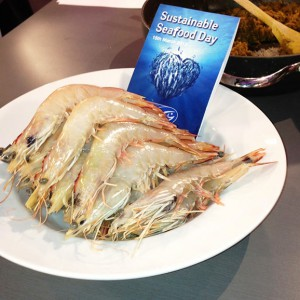 MSC certifed Banana prawns from the Northern Prawn Fishery for Sustainable seafood day Fish & Co